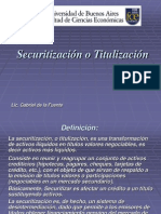 Securitizacion  Titulizacion