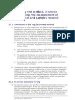 The Regulatory Test Method Emissions