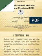 General Anestesi Pada Pasien  Epidural Hematoma (EDH)
