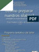 Como Preparar Un Silabo OPN-CEA-2010 (WEG-Corregida)