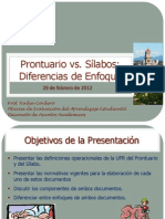 Prontuario vs Silabo - 29 de Feb 2012