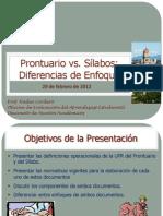 Prontuario vs Silabo - 29 de Feb 2012