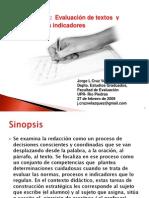 Taller - Evaluacion de Textos y Sus Indicadores (Dr. Jorge Cruz - Febrero, 2009)