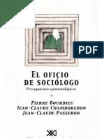 Bourdieu, Passeron y Chamboredon - El Oficio de Sociólogo