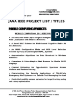 2012 Ieee - Java Project Titles