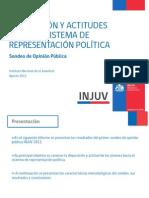 Disposición y actitudes hacia el sistema de representación política
