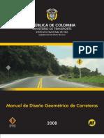 Manual de Diseno Geometrico de Carreteras INVIAS 2008 298p