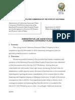 Alj's Ruling Concerning Contingency Plans 08-30-12