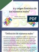 Definición y origen histórico de los números calculo diferencial