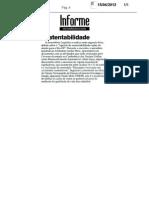 A agenda da sustentabilidade - ações do governo para a Rio 20