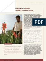 Contrasting the effects of organic vs. inorganic fertilizers on plant health