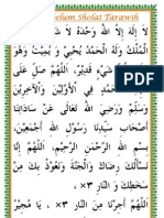 Doa Memulai Tarawih