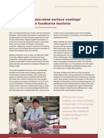 Evaluating antimicrobial surface coatings' ability to reduce foodborne bacteria