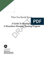 Haz Materials Training Guide