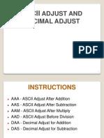ASCII Adjust & Decimal Adjust