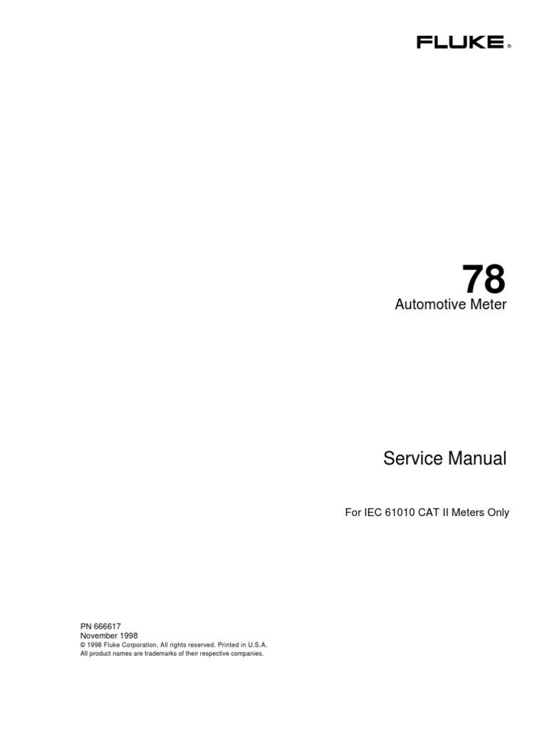 fluke 97 service manual