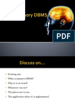 Memory DBMS