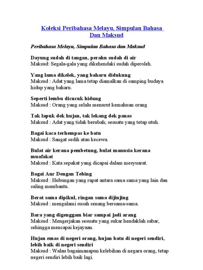 Koleksi Peribahasa Melayu