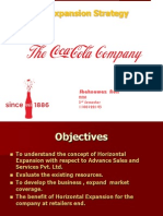 Coca-cola Ppt on Horizontal Market Expansion