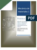 mecanica de materiales 1, practica 2