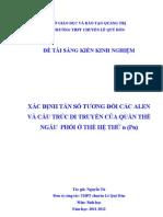 Xac Dinh Tan So Td Alen & Cau Truc Di Truyen-ng Tu