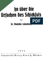 Ludendorff, Mathilde - Wahn über die Ursachen des Schicksals, Ludendorffs Verlag,