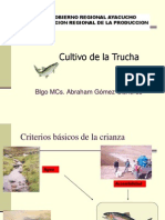Cultivo Intensivo de Truchas