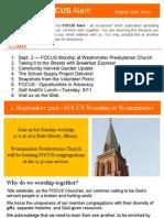 FOCUS Alert - August 31, 2012