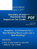 Secretary of Interior Standards Policy Impact on Tax Credit Projects by Susan Mead