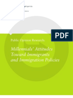 Millennials' Attitudes Toward Immigrants and Immigration Policies