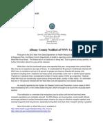 West Nile Virus Notification Press Release