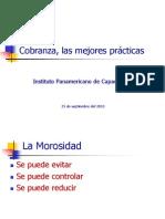 Cobranza, lasmejores prácticas, IPAC
