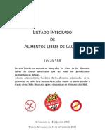 Listado de Alimentos Libres de Gluten 18-06-2012