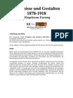 Wilhelm II., Kaiser - Ereignisse und Gestalten aus den Jahren 1878-1918