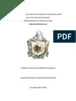 Manual de llenado del Periodontograma