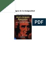 Rousseau Jacques - El Origen de La Desigualdad