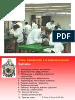 Introducción a la anatomía humana, 1er año, medic, agosto 2012