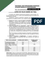 Comunicado Negoc TAEs 150812