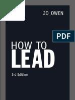 How To Lead - Jo Owen