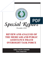 Review and Analysis of the Medicaid and Public Assistance Fraud Oversight Task Force