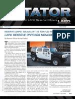 LAPD Reserve Rotator Newsletter  Fall 2008