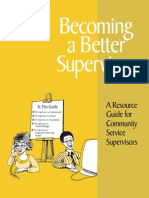 Corporation for National and Community Service Becoming a Better Supervisor