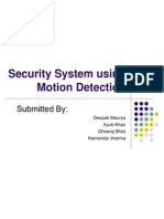 Security System Using Motion Detection