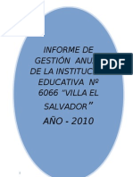 INFORME DE GESTIÓN ANUAL 2010 -R