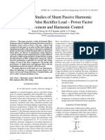 Simulation Studies of Shunt Passive Harmonic Filters