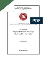 [YRC] Giải pháp phát triển cây quế huyện Văn Yên - Tỉnh Yên Bái