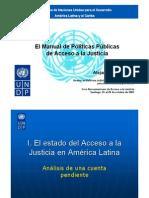 AJ. ÁLVAREZ, Alejandro. PNDU. El manual de políticas públicas de acceso a la justicia.
