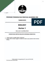 2012 PSPM Kedah Biologi 1 w Ans
