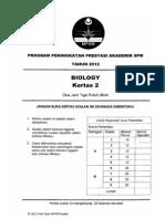 2012 PSPM Kedah Biologi 2 w Ans