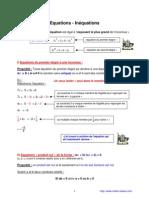 équations et inéquations